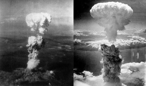 Nakon kapitulacije Nemačke i Italije, Japan je ostao jedina država osovine koja je nastavila da se bori u Drugom svetskom ratu. SAD odlučile su da izvedu invaziju na Japan. Atomsko bombardovanje Hirošime i Nagasakija dogodilo se 6. i 9. avgusta 1945. godine