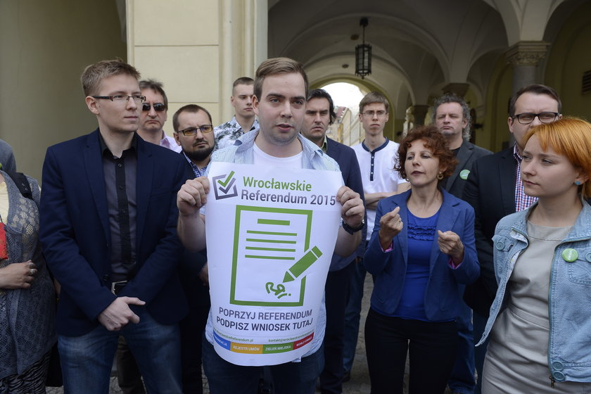 organizatorzy referendum Wrocław
