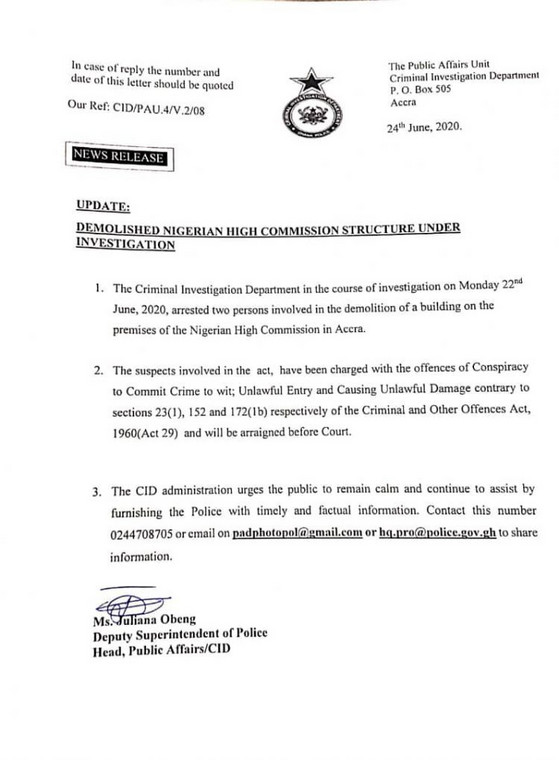 CID statement