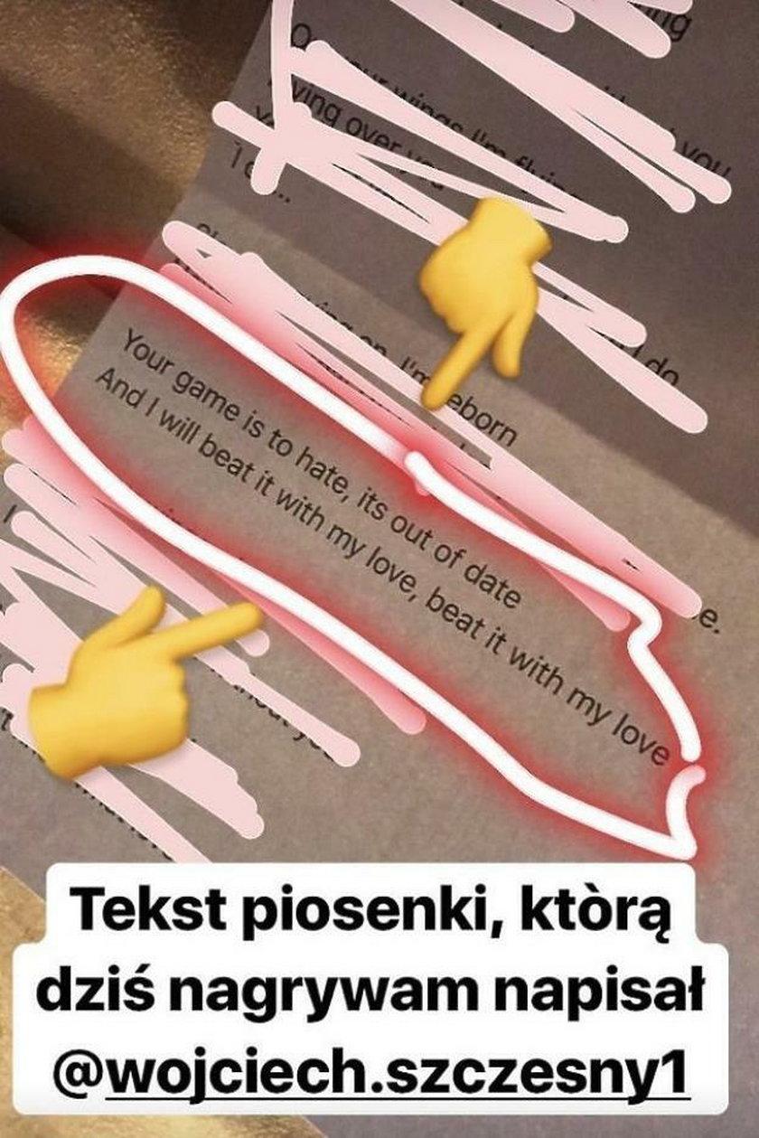 Marina Łuczenko nagrywa piosenkę, którą napisał dla niej Szczęsny