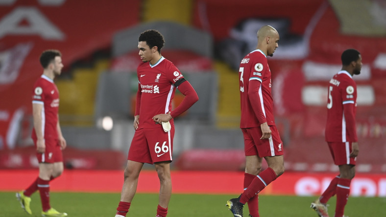 Piłkarze Liverpoolu po porażce