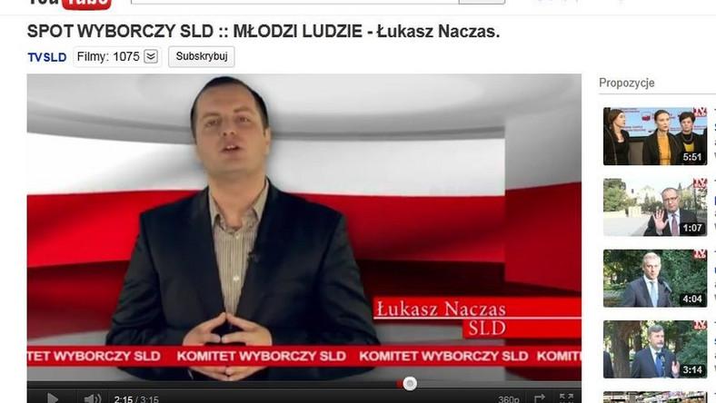 Łukasz Naczas w nowym spocie SLD