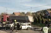 Ćelije saobracajna nesreca mercedesa i kamiona