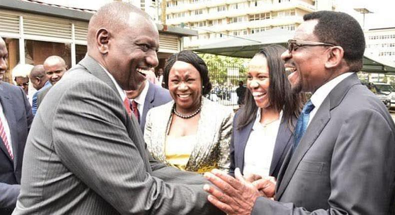 File image of James Orengo with DP Ruto