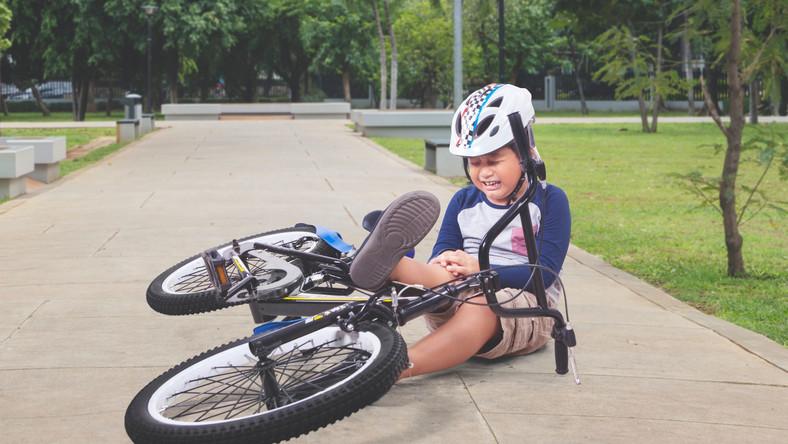 Upadek na rowerze