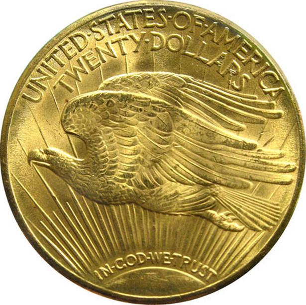 Double Eagle, złota dwudziestodolarówka z 1933 roku (R) - National Museum of American History, Smithsonian Institution, Washington, D.C.