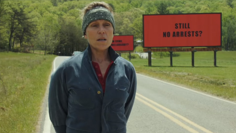"""Frances McDormad w filmie """"Trzy billboardy za Ebbing, Missouri"""""""