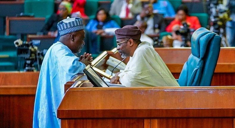 Speaker of the House of Representatives Hon. Femi Gbajabiamila and his Deputy, Hon. Idris Wase [Twitter/@HonAhmedWase]
