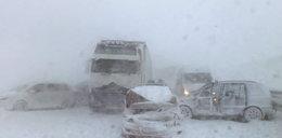 Potężny karambol w Tatrach! Zderzyło się 40 aut