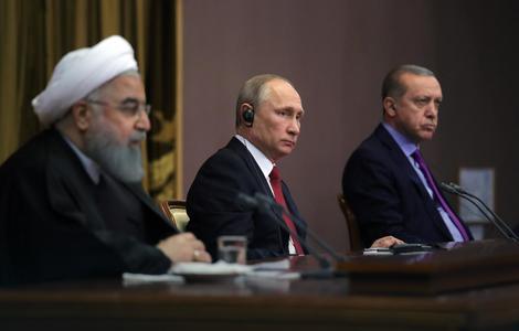 Vladimir Putin, Hasan Rohani i Redžep Tajip Erdogan