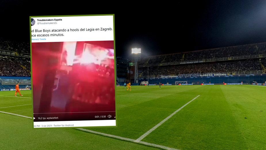 Zamieszki z udziałem kibiców Legii i Dinamo