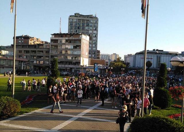 Kragujevac, protest, Skupština grada