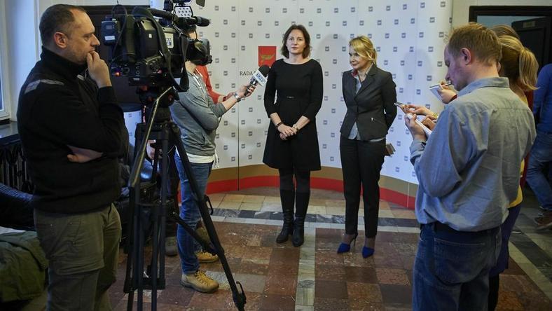 Radne Małgorzata Moskwa-Wodnicka (od lewej) i Małgorzata Niewiadomska-Cudak chcą, by w 2018 roku łódzkim ulicom patronowały kobiety