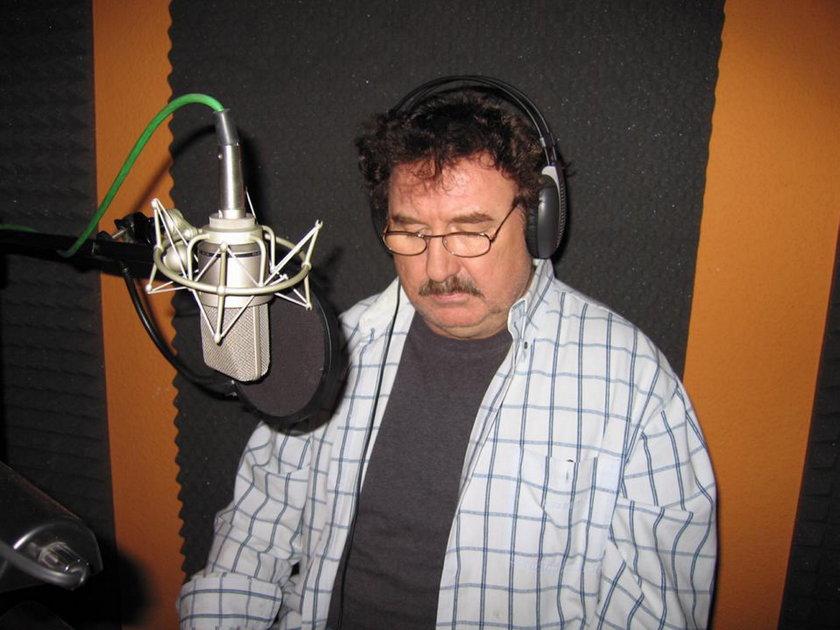 Krzysztof Krawczyk podczas nagrywania.