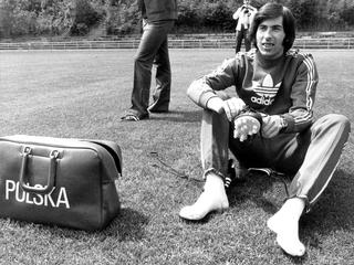 Fuball-WM '74: Kazimierz Deyna im Training