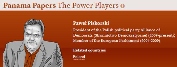 Paweł Piskorski zamieszany w aferę Panama Papers