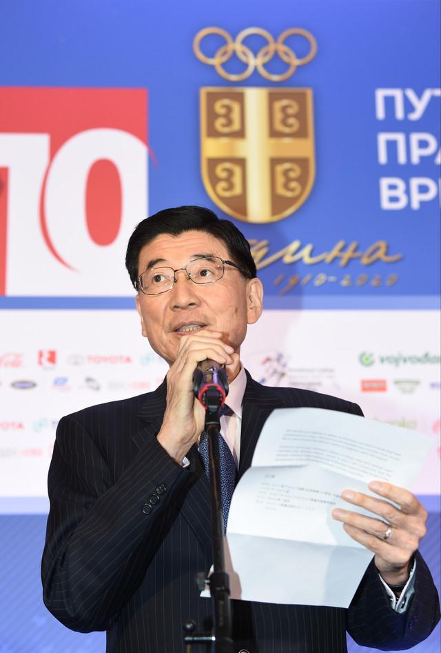 Ambasador Japana u Srbiji, Junići Marujama, bio je gost na rođendanskoj proslavi OKS-a