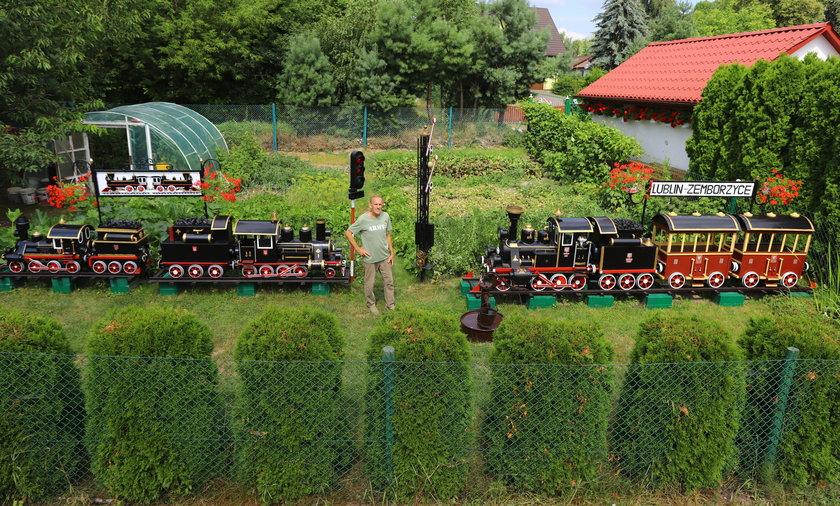 Miniatury pociągów wykonane przez pana Albina