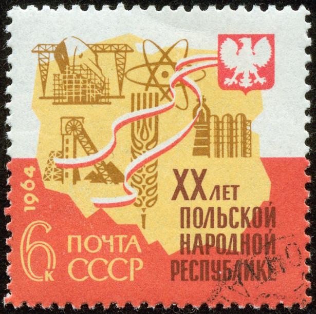 znaczek pocztowy z czasów PRL-u