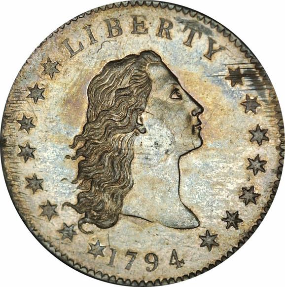 Srebrni dolar datira iz 1794. godine