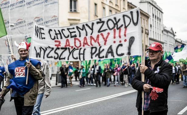 Protest związkowy, zdjęcie ilustracyjne.