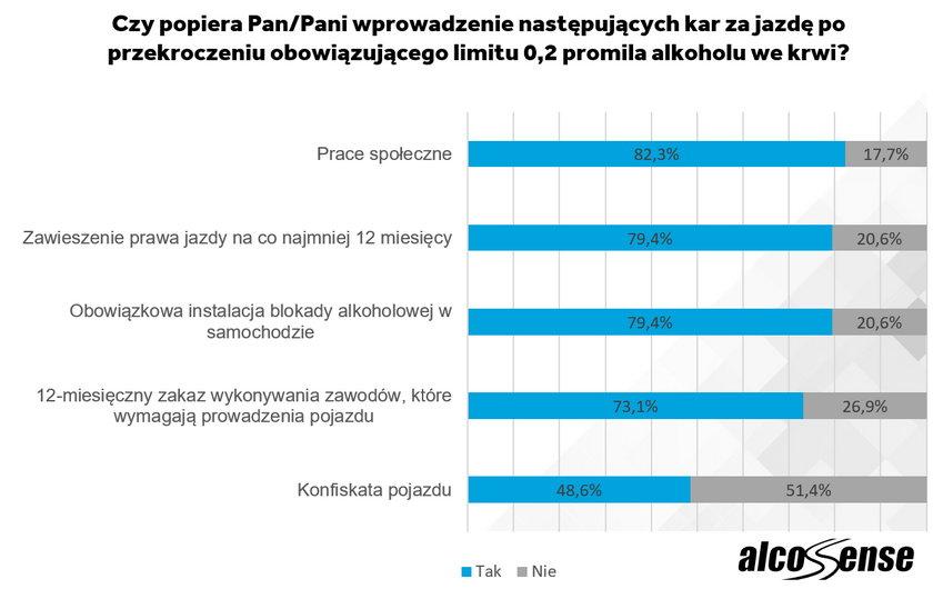 Czy Polacy sąza większymi karami dla nietrzeźwych kierowców?