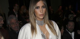 Kim Kardashian cała w srebrze