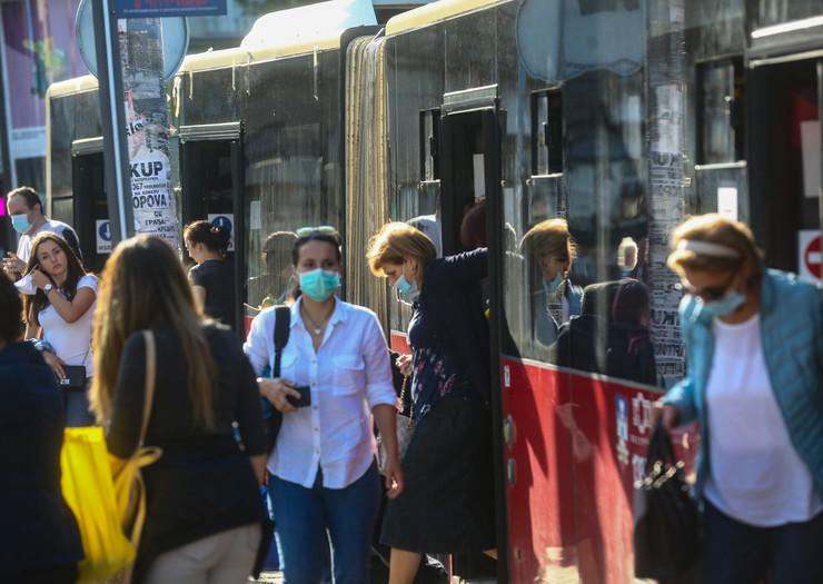 maske gradski prevoz autobus