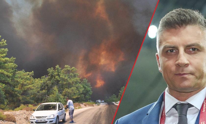 Zgroza! Mateusz Borek uciekał z pożaru w raju na Ziemi [FILM]