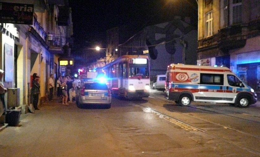 Gaz pieprzowy w tramwaju MPK przy ulicy Legionów w Łodzi. Jedna osoba ranna