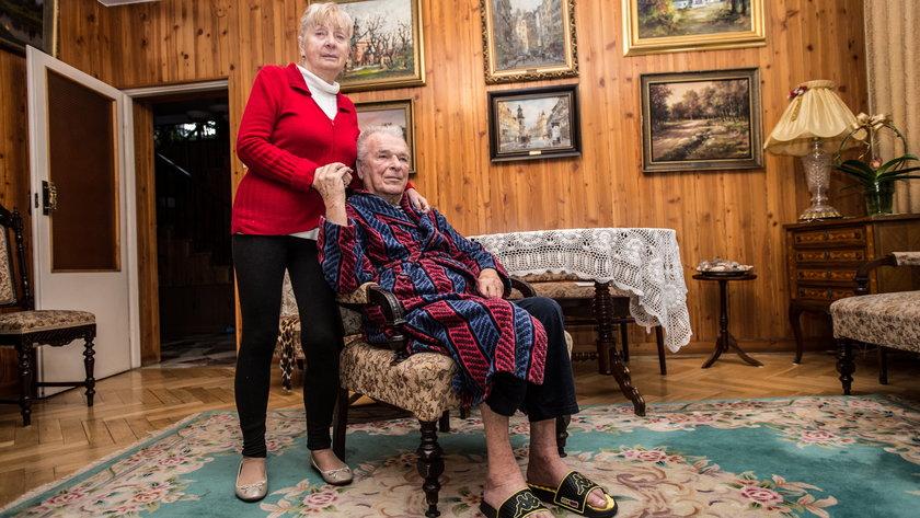 Kiszczak z żoną Marią