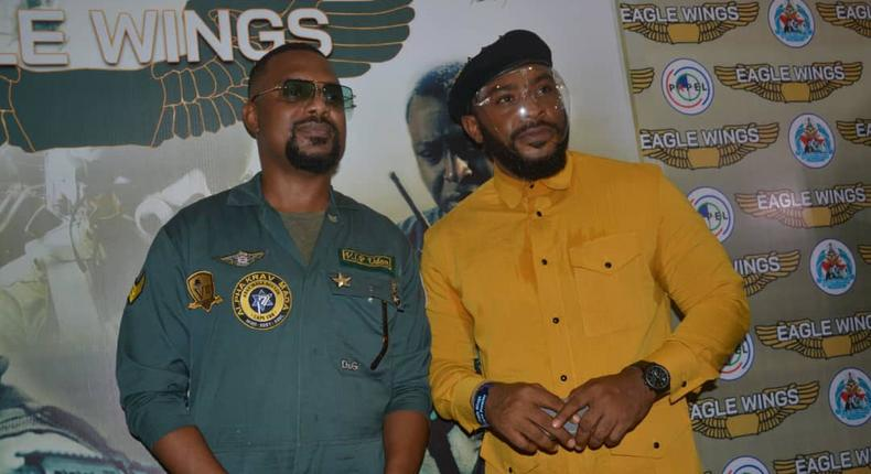 Enyinna Nwigwe at the premiere of 'Eagle Wings' movie [papelfilms]