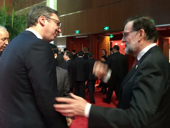Vučić i premijer Španije Marijano Rahoj