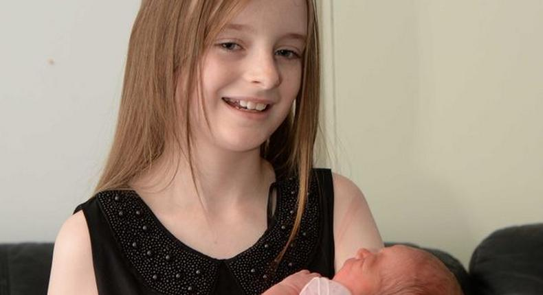 11 year-old girl goes viral after she delivered her baby sister