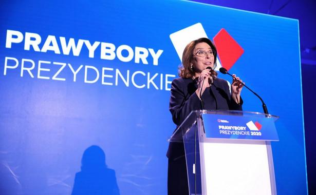 Małgorzata Kidawa-Błońska na konwencji Krajowej PO