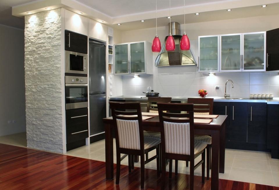 Cegła I Kamień W Kuchni Dom