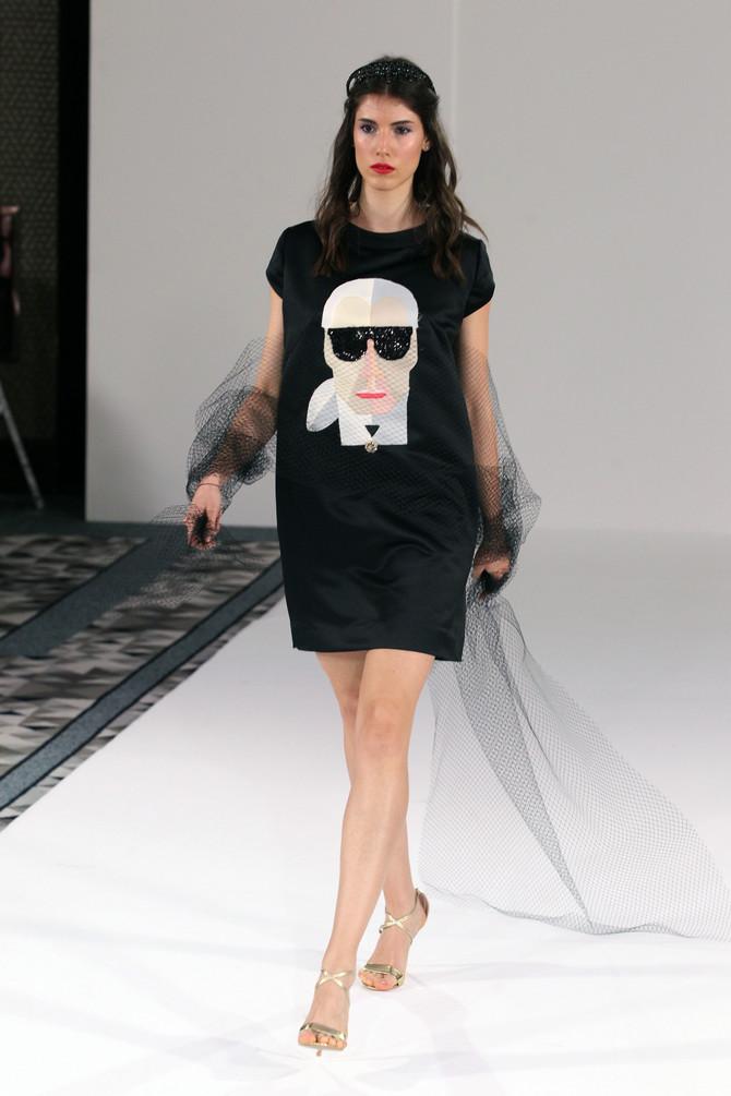 Haljina sa likom Karla Lagerfelda