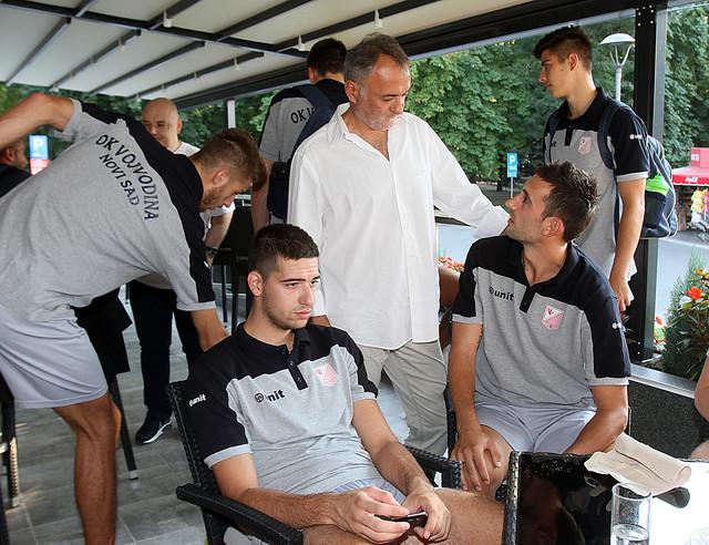 Zoran Gajić u poseti Odbojkaškom klubu Vojvodina