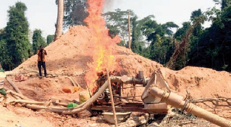 Furious minister orders burning of galamsey equipment