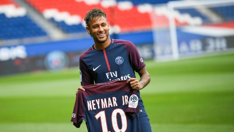 Neymar joined Paris Saint-Germain from Barcelona in a record-breaking move