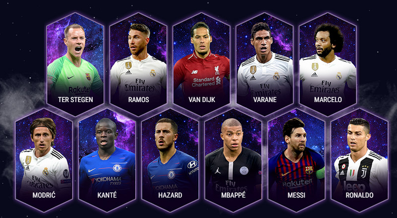 Messi, Ronaldo lead 2018 UEFA Team of the Year