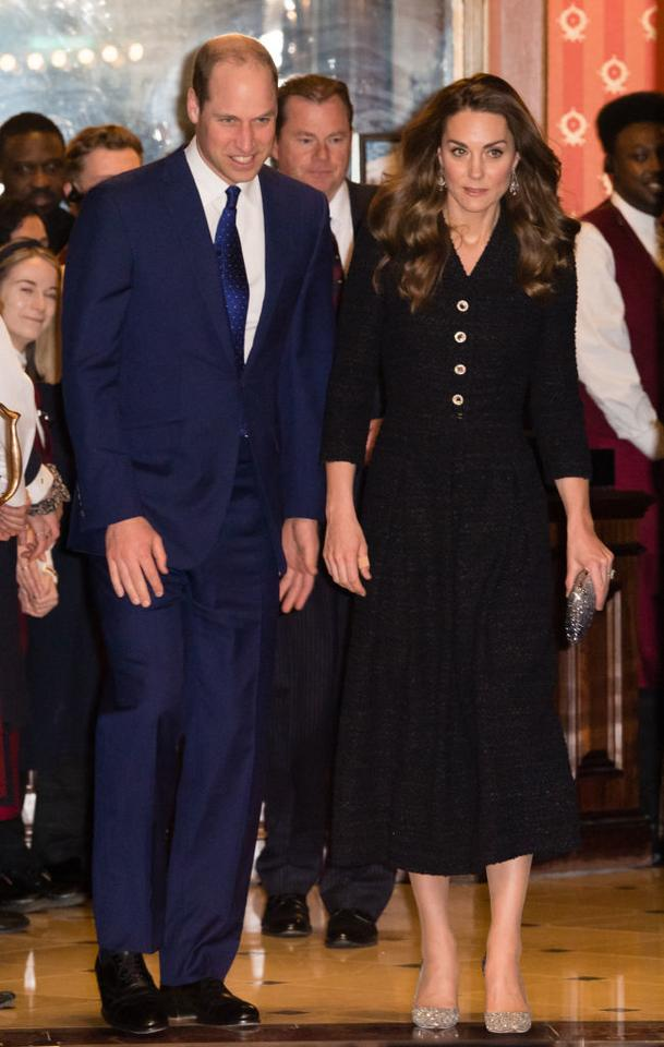 Kate Middleton i książę William na spektaklu w Noël Coward Theatre