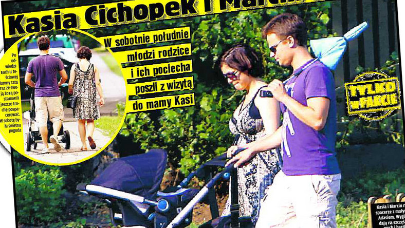 Kasia Cichopek spacerowała dumnie z wózkiem i mężem