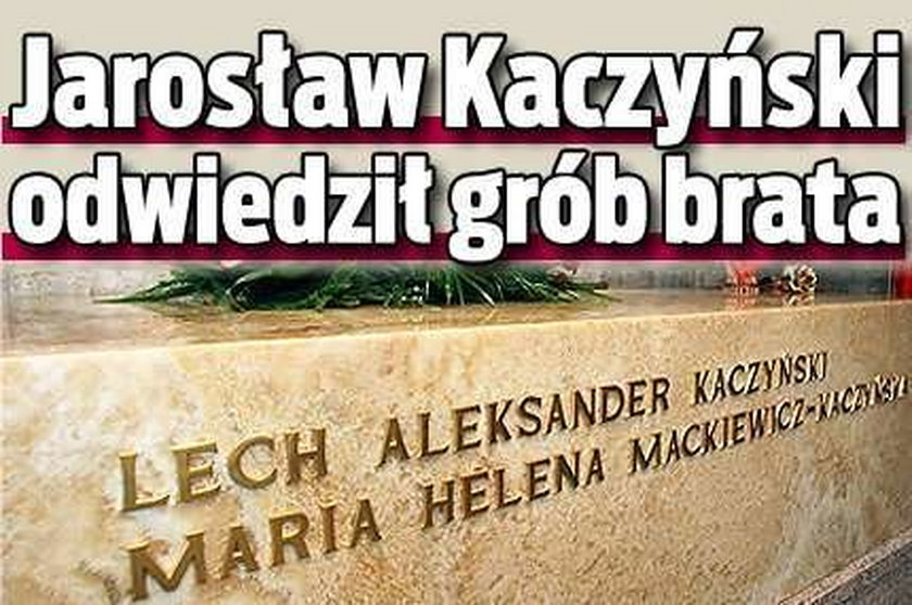 Kaczyński złożył kwiaty na Wawelu