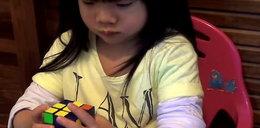 Genialna 3-latka! Układa kostkę Rubika w 47 sekund FILM