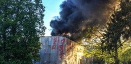 Pożar przychodni na Libelta. Wideo