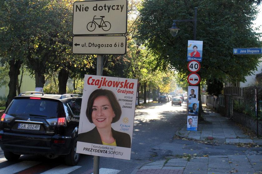 Plakaty wyborcze w Sopocie