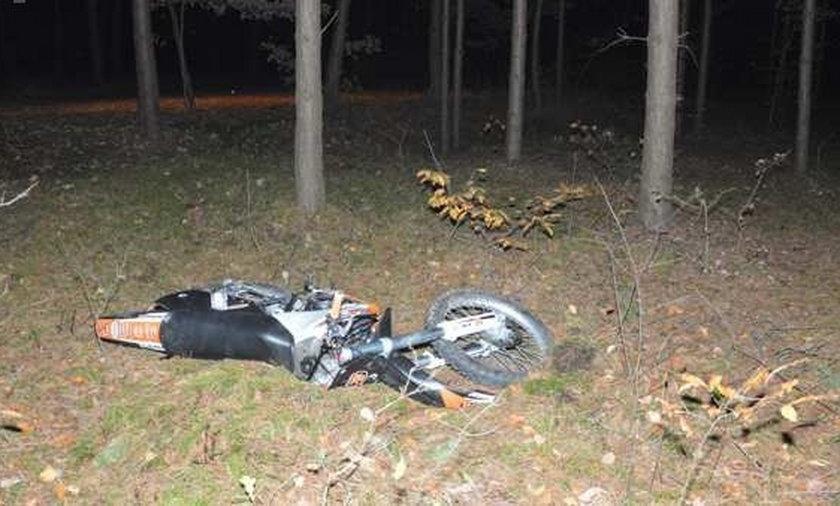 Grzybiarka znalazła konającego 25-letniego motocyklistę