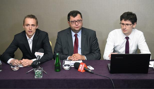 Kamil Całek, Zbigniew Stonoga, Jarosław Gromadzki, Warszawa,PAP/Radek Pietruszka