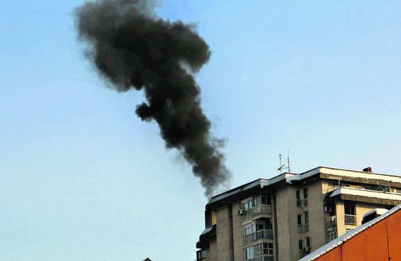 Vazduh u kategoriji opasnog i nezdravog uobičajena slika